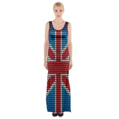 The Flag Of The Kingdom Of Great Britain Maxi Thigh Split Dress