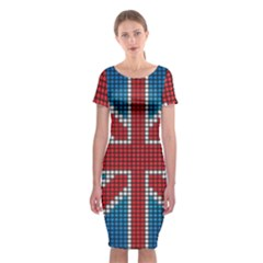 The Flag Of The Kingdom Of Great Britain Classic Short Sleeve Midi Dress