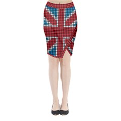The Flag Of The Kingdom Of Great Britain Midi Wrap Pencil Skirt