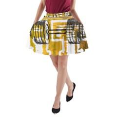 Dumbbells A-Line Pocket Skirt