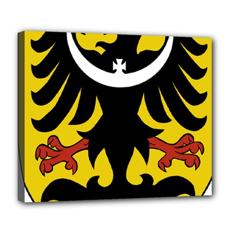 Silesia Coat of Arms  Deluxe Canvas 24  x 20