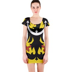 Silesia Coat of Arms  Short Sleeve Bodycon Dress