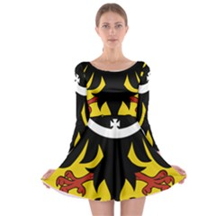 Silesia Coat of Arms  Long Sleeve Skater Dress