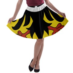 Silesia Coat of Arms  A-line Skater Skirt