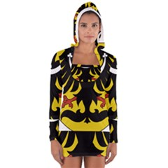 Silesia Coat of Arms  Women s Long Sleeve Hooded T-shirt