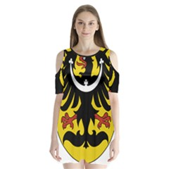 Silesia Coat of Arms  Shoulder Cutout Velvet  One Piece