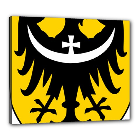 Silesia Coat of Arms  Canvas 24  x 20
