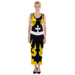 Silesia Coat of Arms  Fitted Maxi Dress