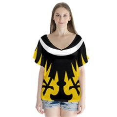 Silesia Coat of Arms  Flutter Sleeve Top