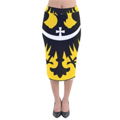 Silesia Coat of Arms  Velvet Midi Pencil Skirt