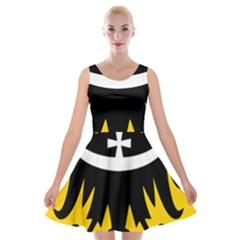 Silesia Coat of Arms  Velvet Skater Dress