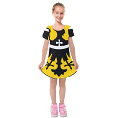 Silesia Coat of Arms  Kids  Short Sleeve Velvet Dress