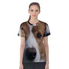 Red Border Collie Women s Cotton Tee
