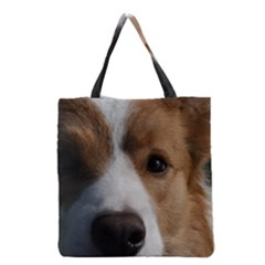 Red Border Collie Grocery Tote Bag
