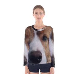 Red Border Collie Women s Long Sleeve Tee