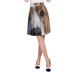 Red Border Collie A-Line Skirt