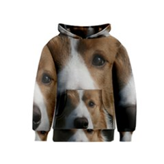 Red Border Collie Kids  Pullover Hoodie