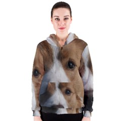 Red Border Collie Women s Zipper Hoodie