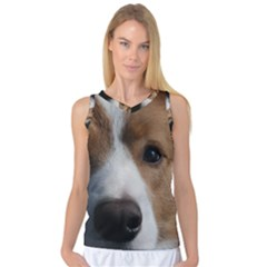 Red Border Collie Women s Basketball Tank Top