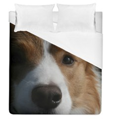 Red Border Collie Duvet Cover (Queen Size)