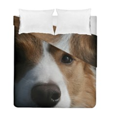 Red Border Collie Duvet Cover Double Side (Full/ Double Size)