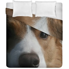 Red Border Collie Duvet Cover Double Side (California King Size)