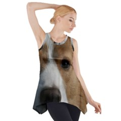 Red Border Collie Side Drop Tank Tunic