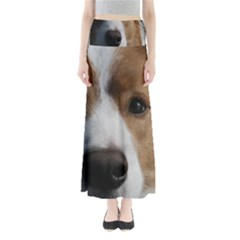 Red Border Collie Maxi Skirts