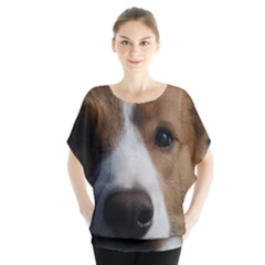 Red Border Collie Blouse