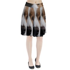 Red Border Collie Pleated Skirt