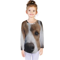 Red Border Collie Kids  Long Sleeve Tee
