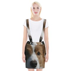 Red Border Collie Suspender Skirt
