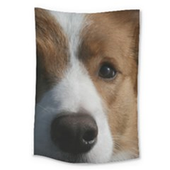Red Border Collie Large Tapestry