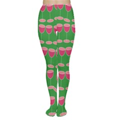 Wine Red Champagne Glass Red Wine Women s Tights