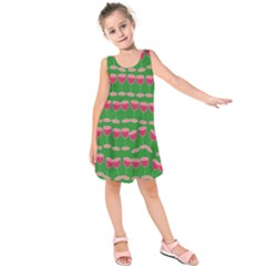 Wine Red Champagne Glass Red Wine Kids  Sleeveless Dress