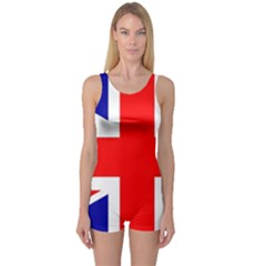 Union Jack Flag One Piece Boyleg Swimsuit