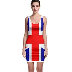 Union Jack Flag Sleeveless Bodycon Dress