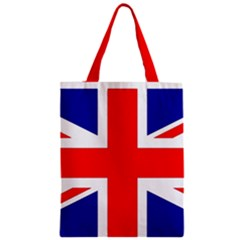 Union Jack Flag Zipper Classic Tote Bag