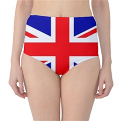 Union Jack Flag High-Waist Bikini Bottoms
