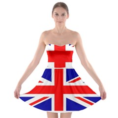 Union Jack Flag Strapless Bra Top Dress