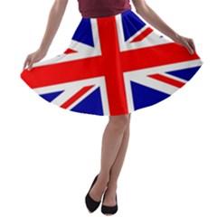 Union Jack Flag A-line Skater Skirt