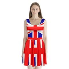 Union Jack Flag Split Back Mini Dress