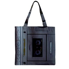 Vintage Tape Recorder Zipper Grocery Tote Bag
