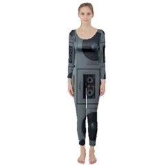 Vintage Tape Recorder Long Sleeve Catsuit