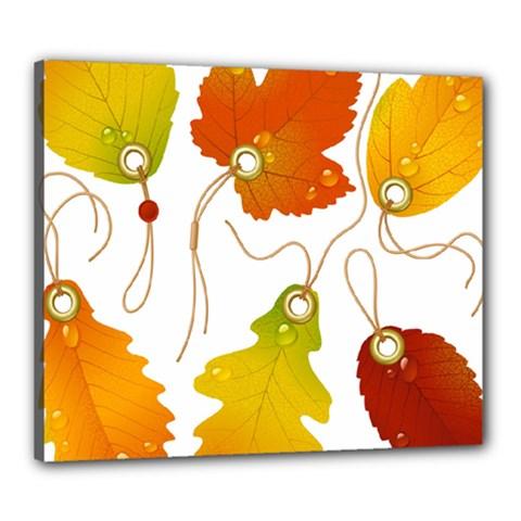 Vector Beautiful Maple Leaf Canvas 24  x 20