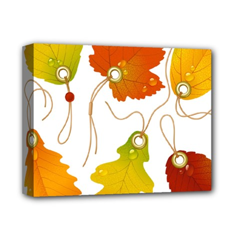 Vector Beautiful Maple Leaf Deluxe Canvas 14  x 11