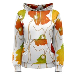 Vector Beautiful Maple Leaf Women s Pullover Hoodie
