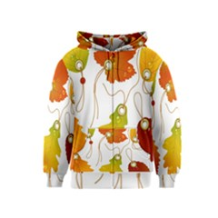 Vector Beautiful Maple Leaf Kids  Zipper Hoodie