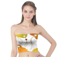 Vector Beautiful Maple Leaf Tube Top