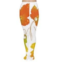 Vector Beautiful Maple Leaf Women s Tights